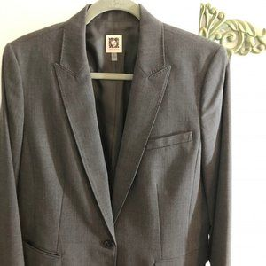 Ann Klein Grey Sports Jacket size 14